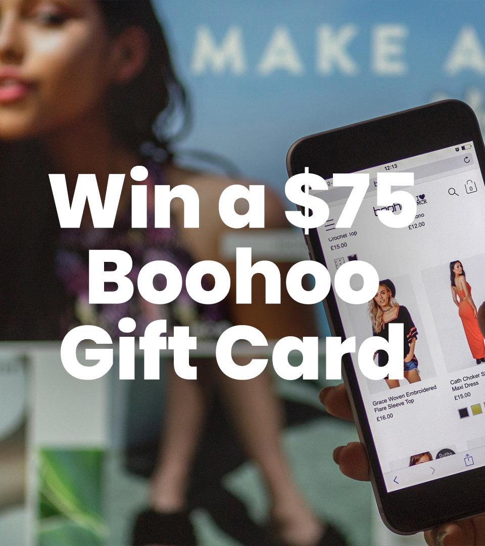 $75 Boohoo Gift Card